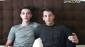 Two hot twinks make love