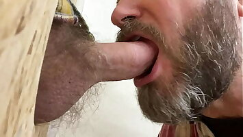 Sucking a construction wage-earner browse a glory hole
